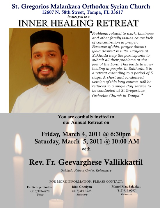 Annual Retreat with Fr. Geevarghese Vallikkattil